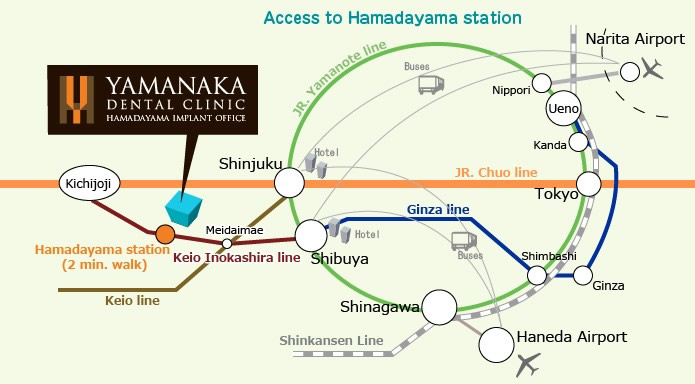 Access to Hamadayama station